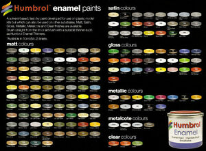 HUMBROL-14ml-TIN-MATT-amp-SATIN-ENAMELS-1-105-PART-I