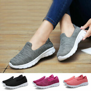 Women-039-s-Slip-On-Shoes-Casual-Mesh-Walking-Sneakers-Comfortable-Loafers-Flats
