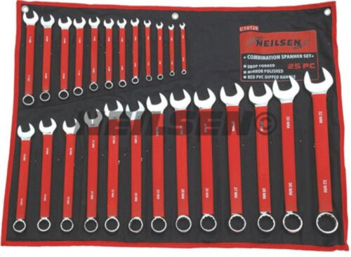 25pc Metric combo spanner combination set ring open ended 6mm 32mm NEILSEN TOOL
