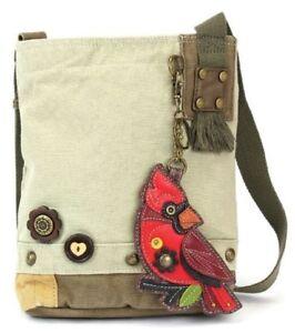 Image is loading Chala-Purse-Handbag-Canvas-Crossbody-with-Key-Chain- db5b8a1ccb99f
