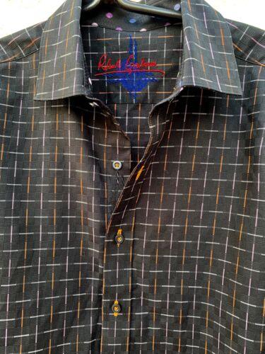 Pour Graham Shirt Print Sz L Atomic Black Robert Homme wTXpBqBn