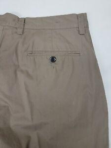 J-Crew-Club-Short-Flat-Front-Chino-Khaki-Taupe-Mens-Shorts-Sz-32-3123