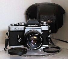 Minolta XEb  Film Camera with MC Rokkor-PF 50mm 1.7 Lens  (Rare, Collectible)
