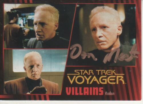 DONNY MOST SIGNED 2015 STAR TREK VOYAGER HEROES & VILLAINS #48 KADAN