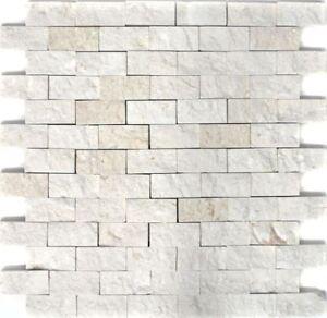 Naturstein-Mosaik-Brick-Splitface-silber-Travertin-Verblender-1Matte-WB29-49248