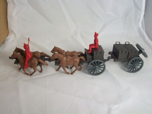 54MM Classic Toy Soldiers ALAMO//NAPOLEONIC 4 horse Limber and Ammo Caisson