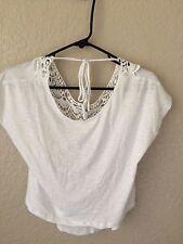 FOREVER 21 Shirt White Sleeveless Top Girl's Junior's Size S Small