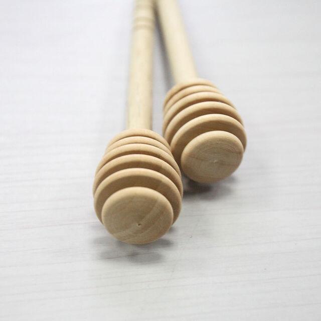 2x Wooden Honey Dipper Stick for Honey Jar Long Handle Mixing Stick Pop..