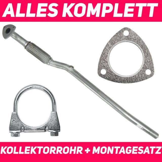 1.0 Corsa C Hosenrohr Abgasrohr Flexrohr Opel
