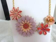 Beautiful Lavender and Pink Daisy and Flower Necklace EUC 402