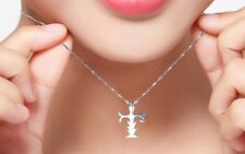 925 Sterling Silver Jesus Faith Cross Sword Pendant Necklace Chain Gift Box A6