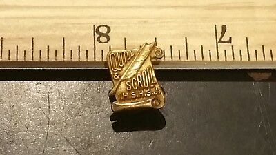 Quill and Scroll Award Pin High School 1975 Honor Society