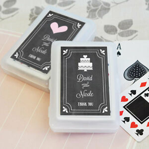 Image Is Loading 50 Personalized Themed Chalkboard Playing CARDS Birthday Bridal