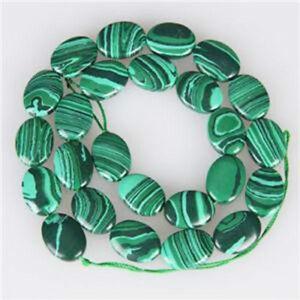 10 x 15 mm Green Malachite Oval Gemstone Loose Beads 15