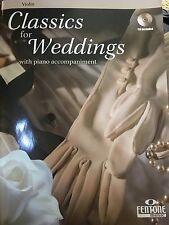 Classics for Weddings Violin Fentone Instrumental Books Book and CD NE 044006675