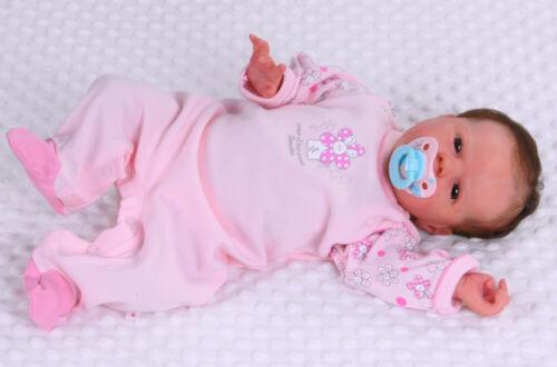 Schlafanzug Baby Strampler 56 62 68 74 80 86 Langarm Rosa Blume Einteiler