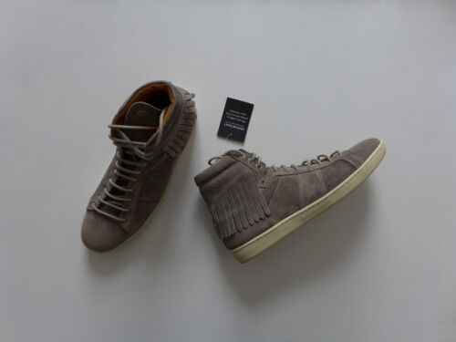 18h Rrp Grey Saint Sl Size Laurent £505 Eu39 Suede Trainers uk6 Fringed Bnwb Pwt4Eqt