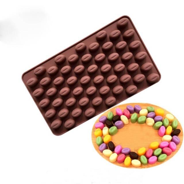 Silicone 55 Cavity Mini Coffee Beans Chocolate Sugar Candy Mold Mould Cake Decor