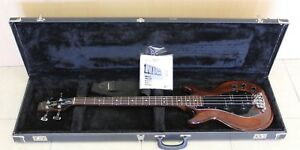 Westbury-Track-4-Brown-4-String-Bass-Guitar-With-Hard-Case-and-Shoulder-Strap
