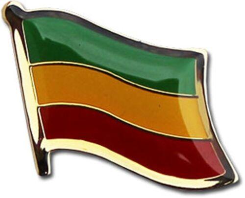 Wholesale Pack of 50 Ethiopia Country Flag Bike Hat Cap lapel Pin