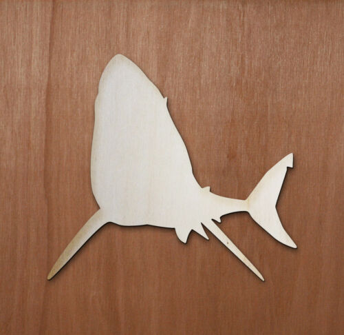 SHARK Animal Fishing Laser cut ply wood shape craft arts decoration ALL SIZES