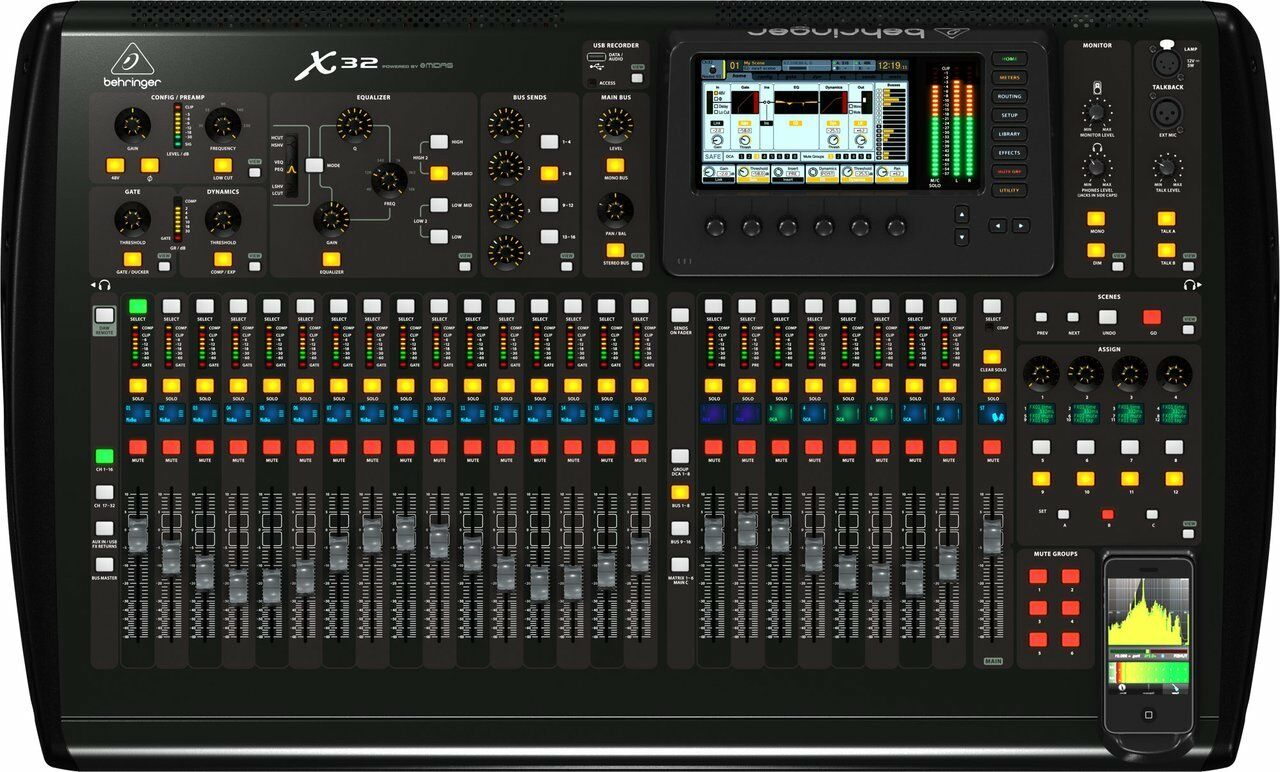 Behringer X32 Digital Mixing Console with 32 Channels 16 16 16 Busses Total Recall e73b66