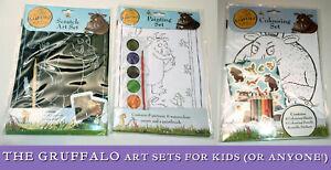 El Gruffalo Niños Creativos paquetes colorante & Pegatinas Juego de pintura de arte rasguño