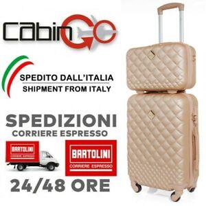 CABIN GO 5590 Set Valigie Trolley da Viaggio Rigide in ABS 4 ruote girevoli