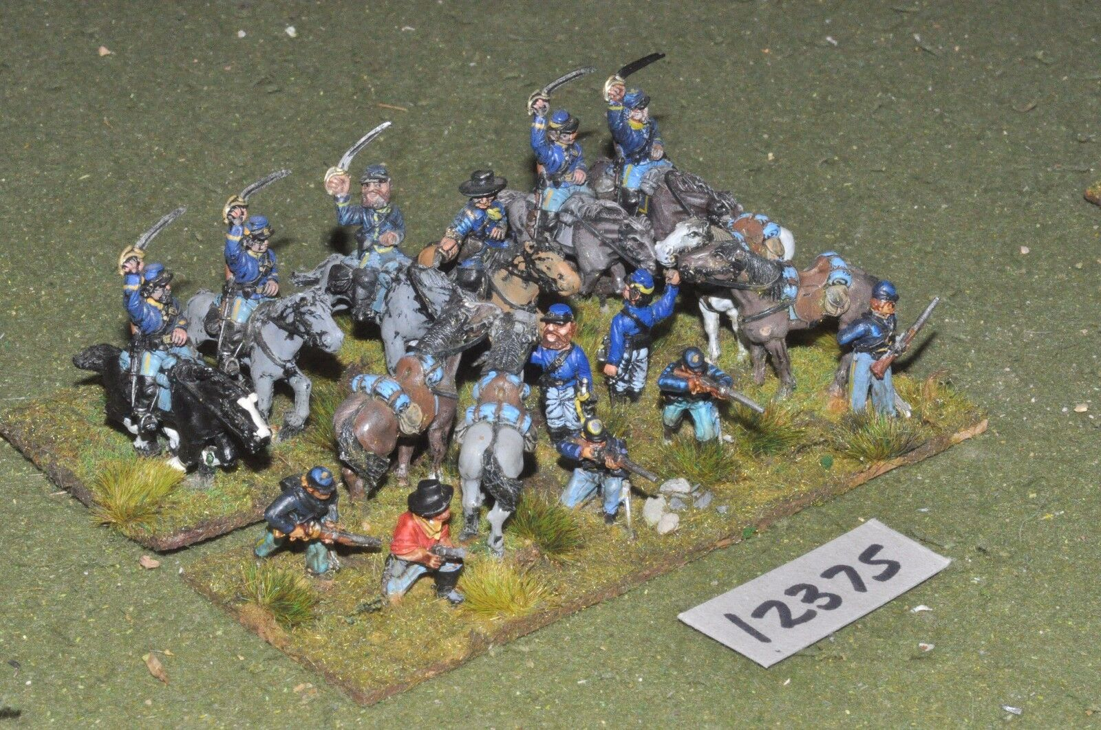 25mm ACW   union - american civil war cavalry - cav (12375)