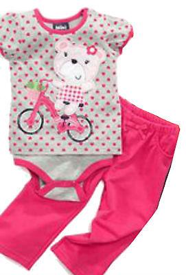Mini Bean Baby Girl Clothes Set 2 Piece Outfit t Shirt Pants Newborn Infant s