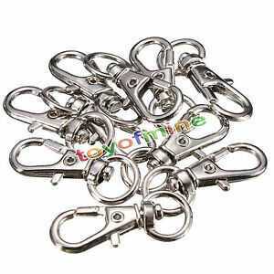 10-20-50-100pcs-Lobster-Trigger-Swivel-Clasps-Split-for-Keyring-Hook-Key-Ring