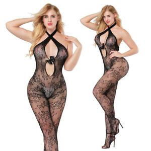 97c32aa4da4 Details about Women's-Sexy-Lingerie-Bow-Body  stockings-Dress-Sleepwear-Club-COSPLAY-Babydoll