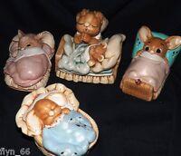 Four Bedtime Pendelfin Rabbits C1970