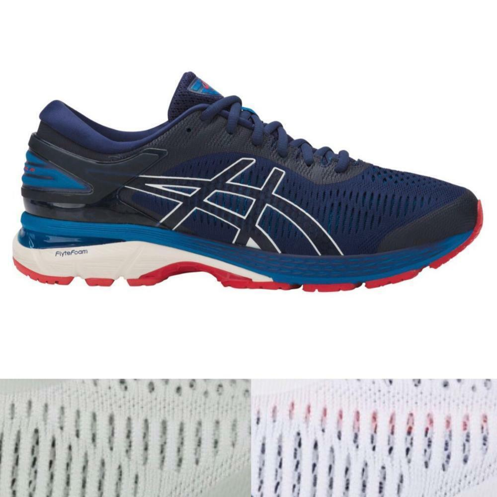 Men's Asics GEL-Kayano Grey 25 Running Athletic Shoes Indigo Grey GEL-Kayano White 52e4a9