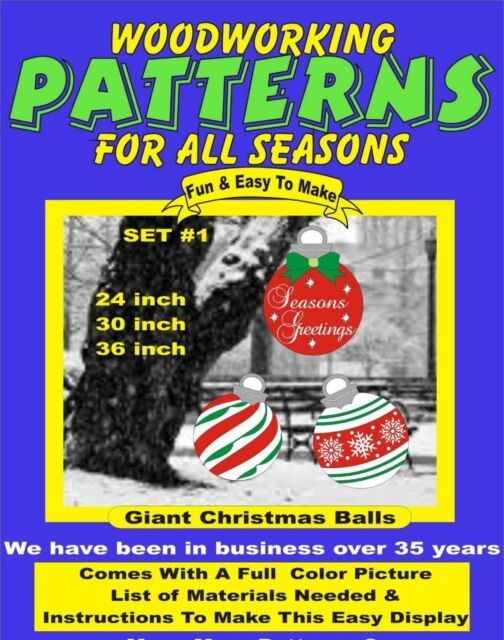 Giant Christmas Set 1 Woodworking Pattern Plan Craft Yard Art
