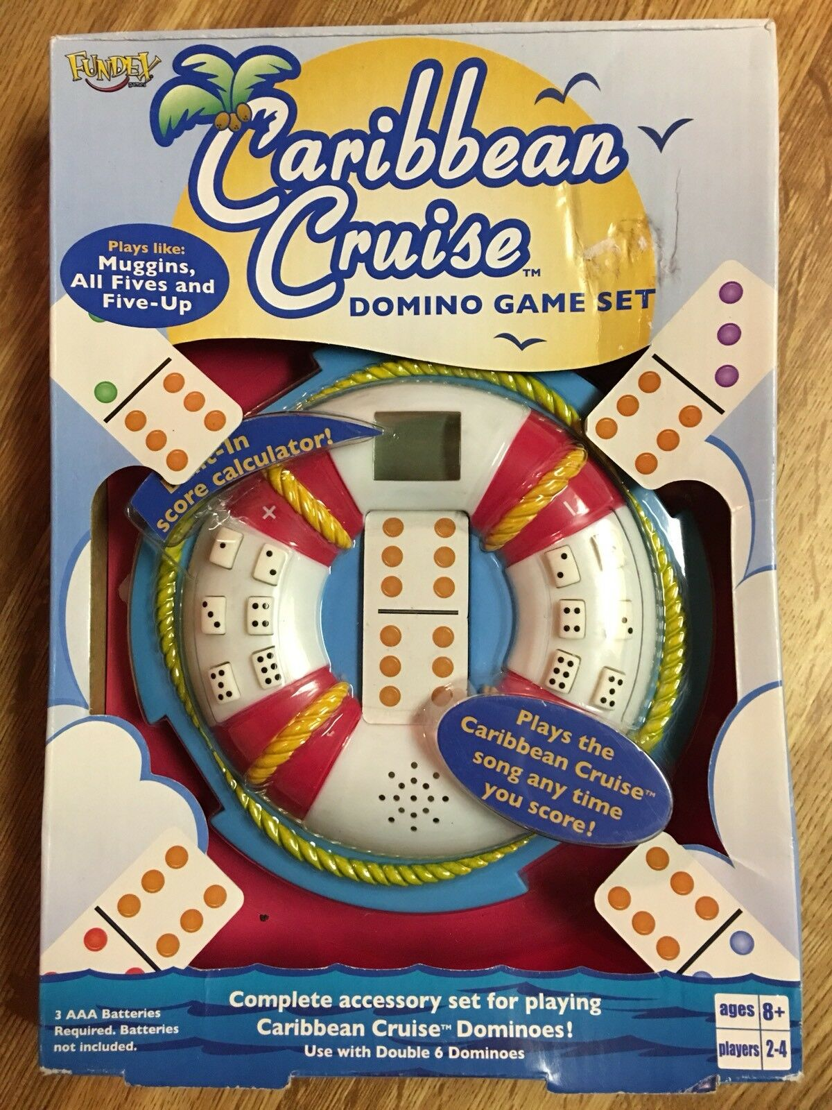 Nuovo Sealed Carribean Cruise Dominoes Domino Game Set Fundex 2004