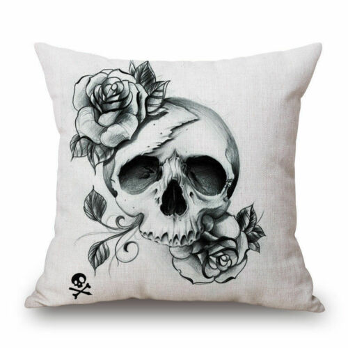 Mexicaine Crâne Sucre Décoratif Sham Cover Pillow Throw Case Indiana Coussin Art