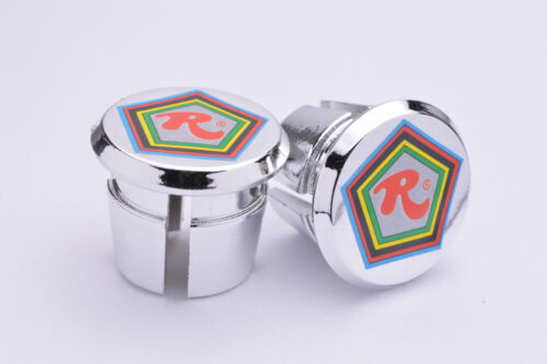Rossin chrome Plugs Caps Tapones guidon bouchons lenker retro New