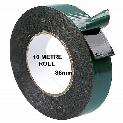 Double Sided Foam Tape 6mm x 10M Black Super Strong Permanent Self Adhesive