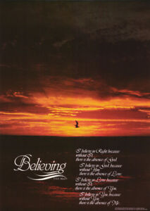poster believing sayings sunset free shipping 13 753 rc16 j