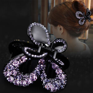 Women-Crystal-Hair-Claw-Alloy-Rhinestone-Grab-Clip-ClampHair-Style-Accessories