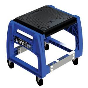 NEW-MATRIX-M50-MECHANICS-ROLLING-CHAIR-SERVICE-TOOL-PIT-STAND-MX-MOTORCYCLE-BLUE
