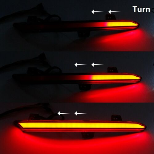 LED Rear Reflector Brake Tail Light w// Sequential Flash For Honda Accord 18-19