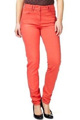 M&s Orange 5 Pocket Jeggings / Jeans Size 8 Reg & Long Rrp £22.50