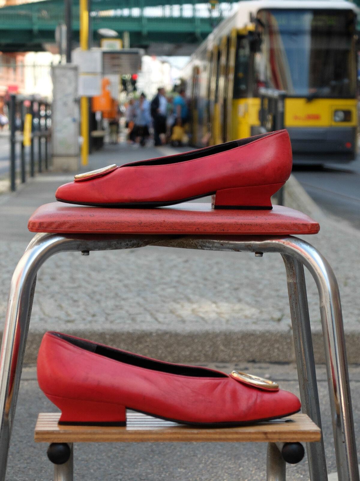 Karl LAGERFELD Scarpe donna décolleté décolleté décolleté ballerine rosso pelle 90s True Vintage   A Buon Mercato    Uomini/Donne Scarpa  9b0dd8