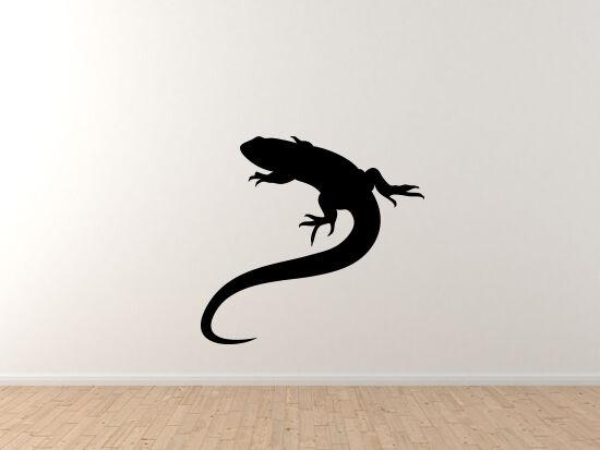 Animals Silhouette Biology - Detailed Lizard Anole Version 3 - Vinyl Wall Decal