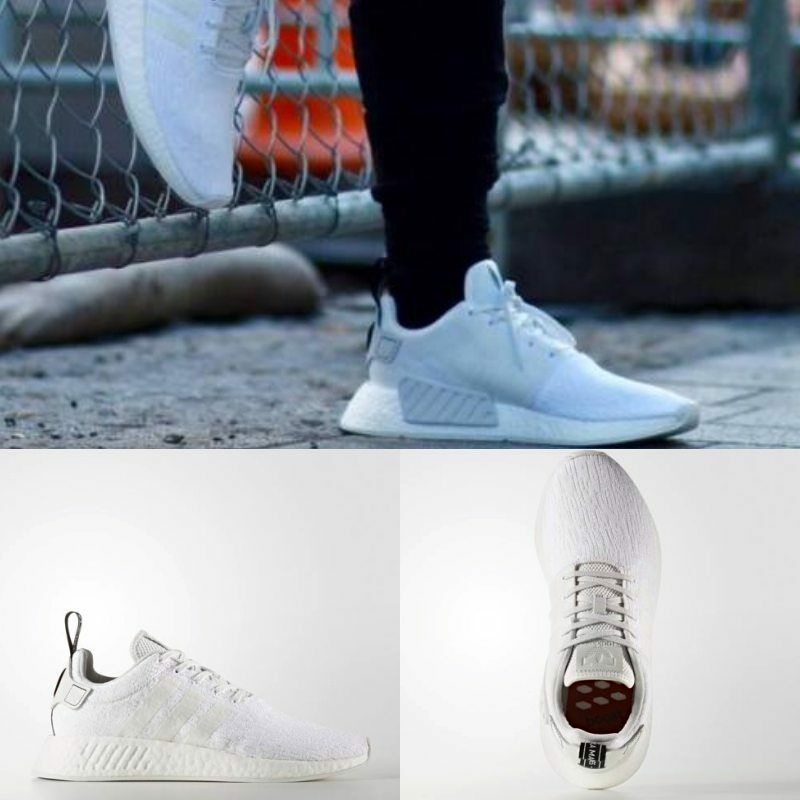 Adidas Unisex Original NMD R2 courirner blanc blanc noir BY9914 Taille 5
