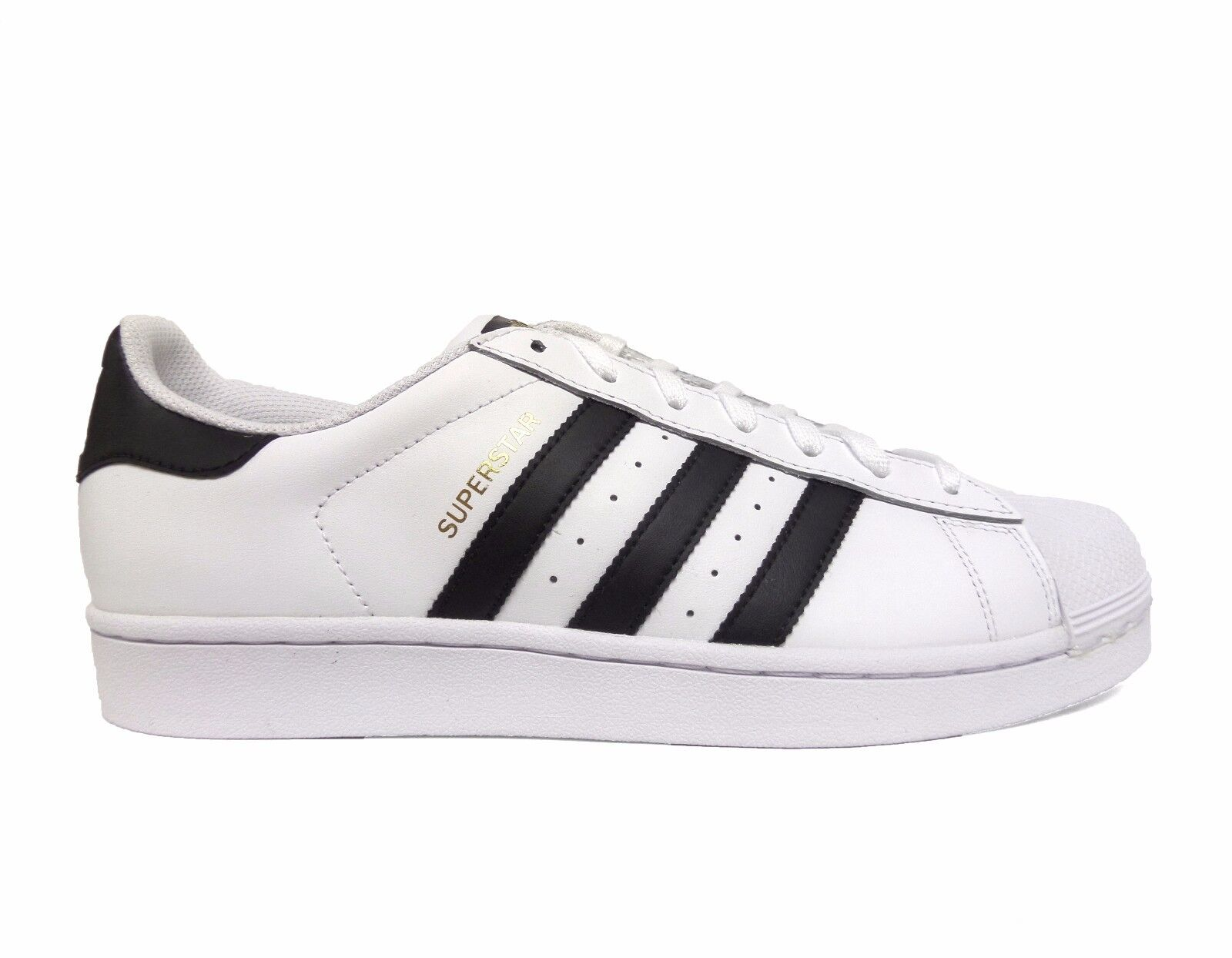 Adidas Men's Originals SUPERSTAR Casual shoes White Black C77124 b