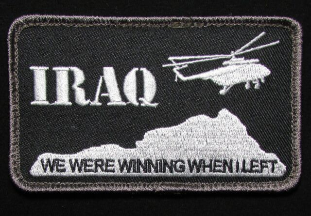 IRAQ WE WERE WINNING USA ARMY TACTICAL US MILITARY MORALE ACU DARK HOOK PATCH