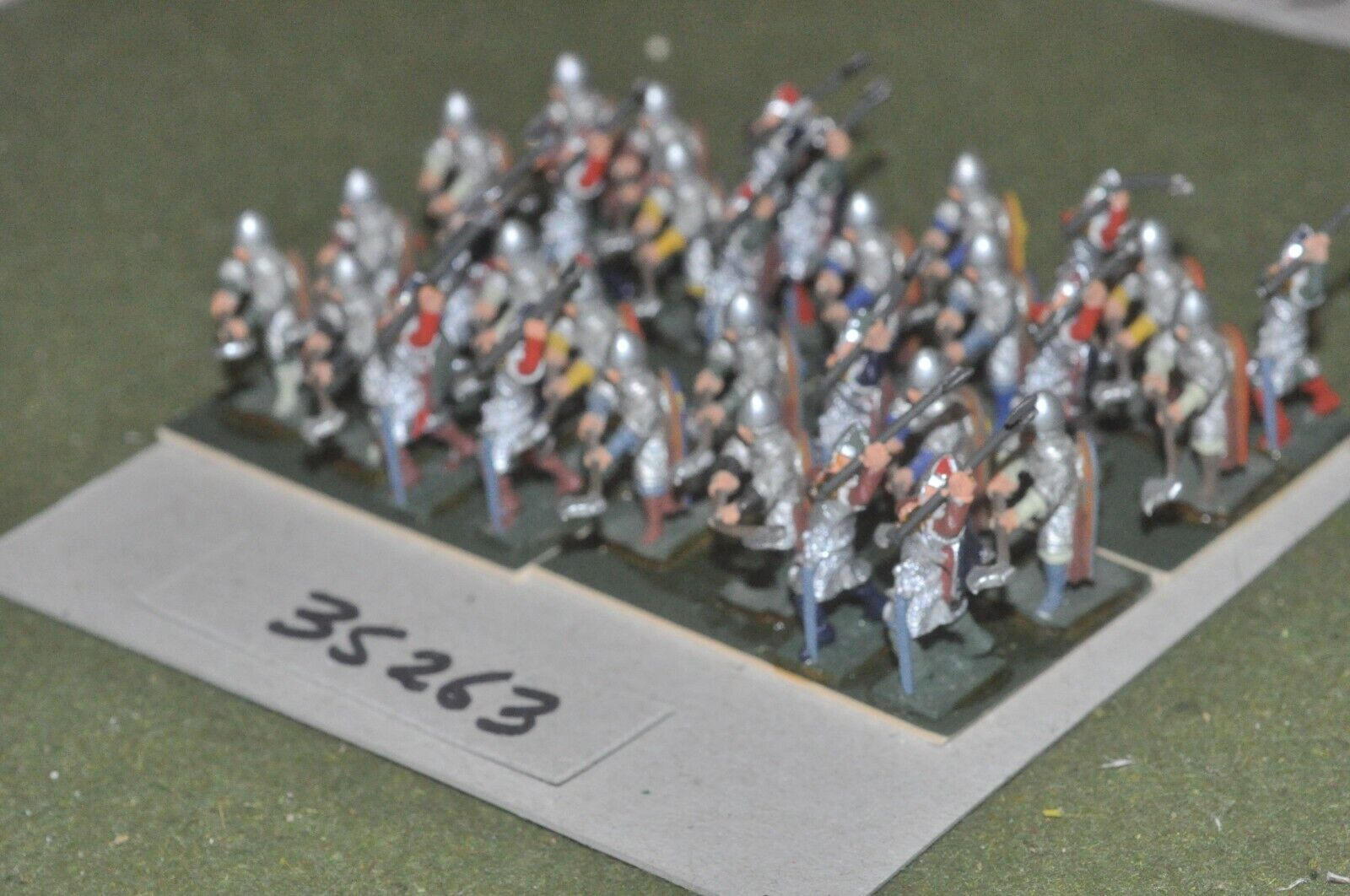 25mm edades Oscuro anglo-danés-husCochels 32 figuras-INF (35263)